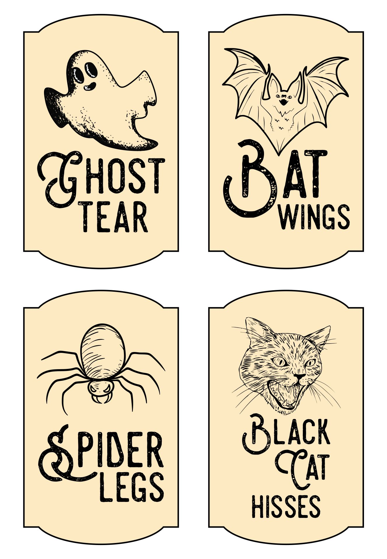 Printable Halloween Poison Bottle Labels