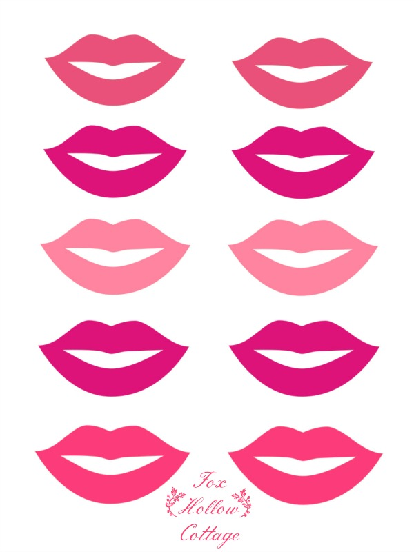 7 Images of Photo Prop Printable Lips