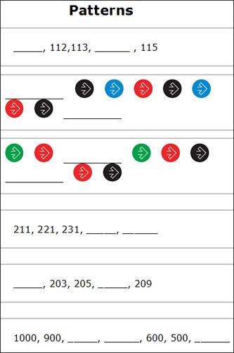 Free Number Pattern Worksheets Grade 4 - 1st grade patterns ...