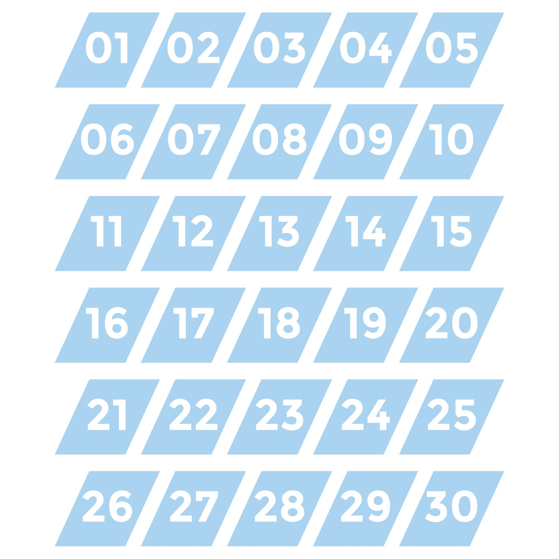 9 Images of Printable Numbers 1- 30