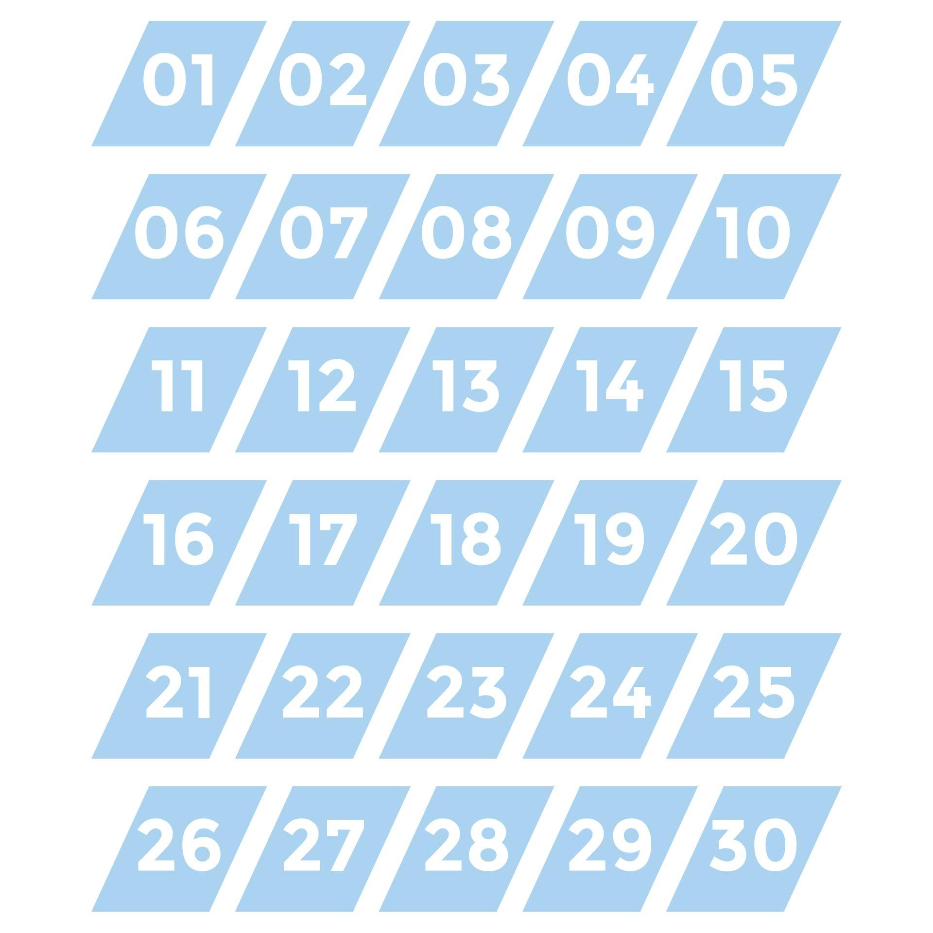Printable Numbers 1 30