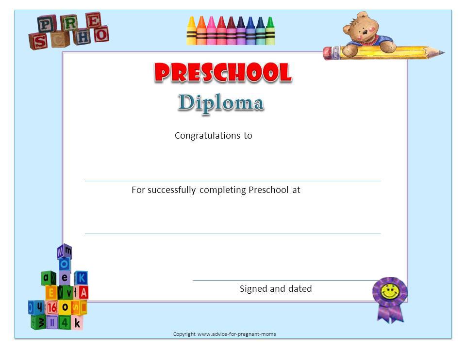 9 best images of free printable diplomas free printable kindergarten graduation certificate for Printable graduation certificate
