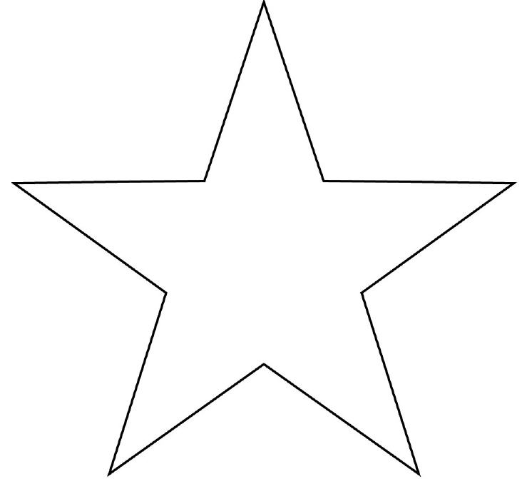 5 Images of Free Printable Star Shape Stencils