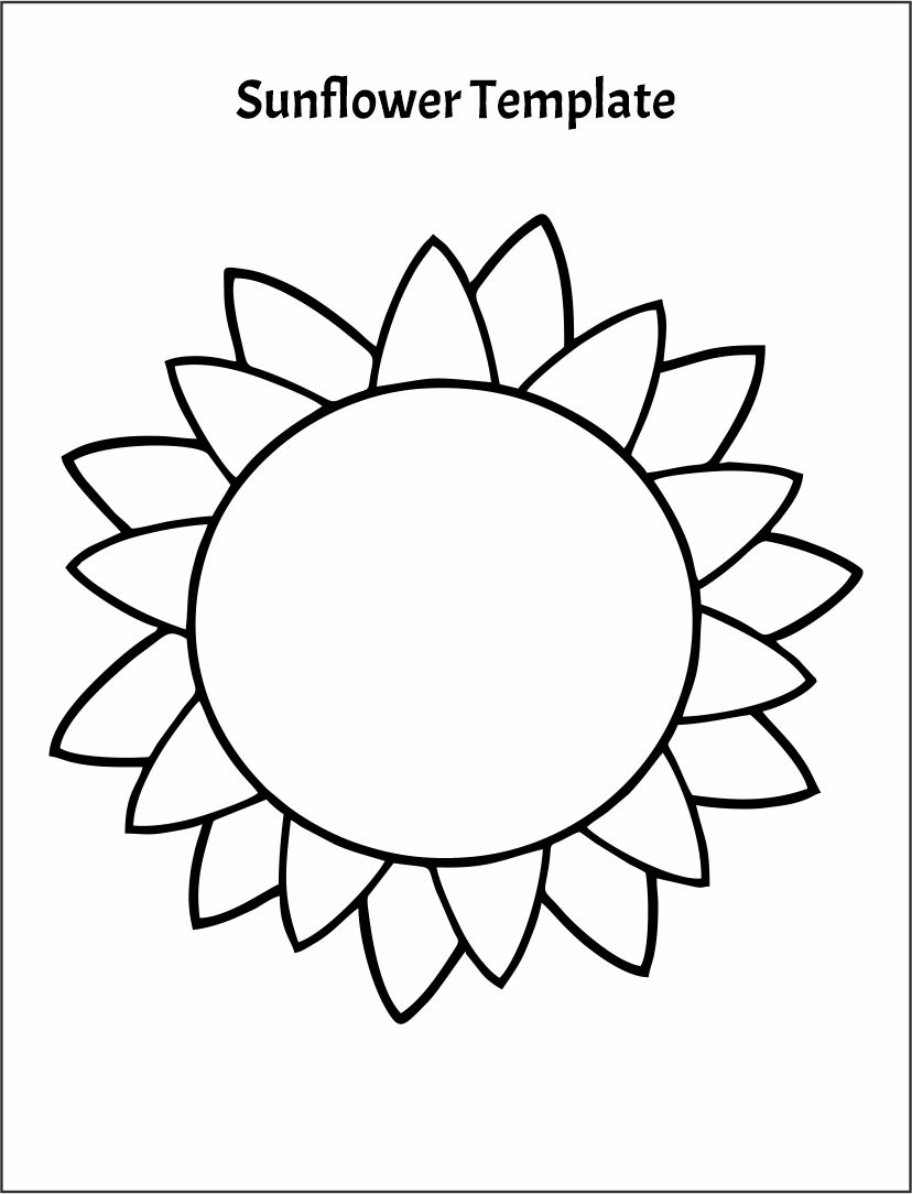 Printable Sunflower Template