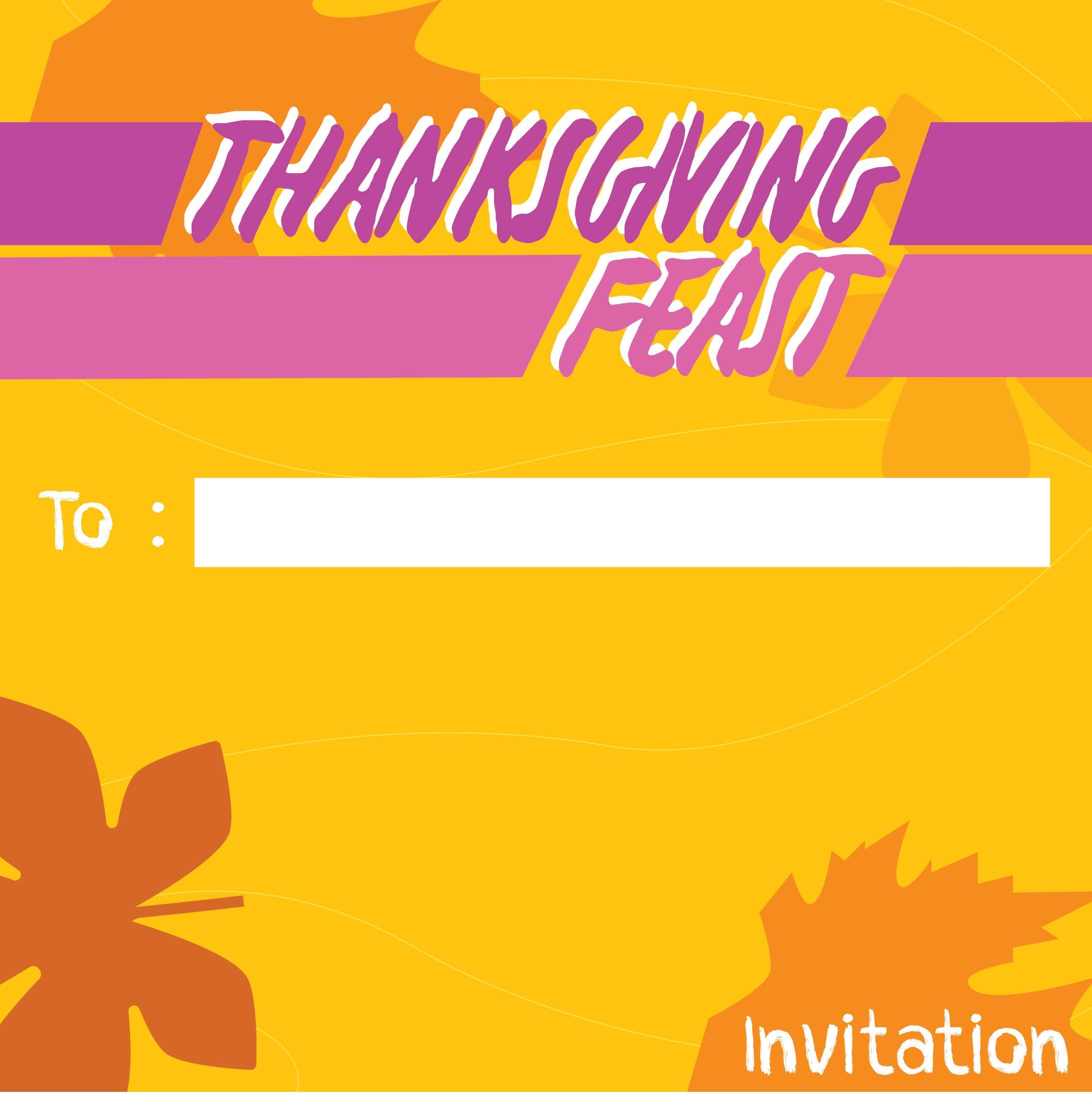 Printable Thanksgiving Dinner Invitations
