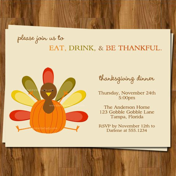 7 Images of Printable Thanksgiving Dinner Invitations