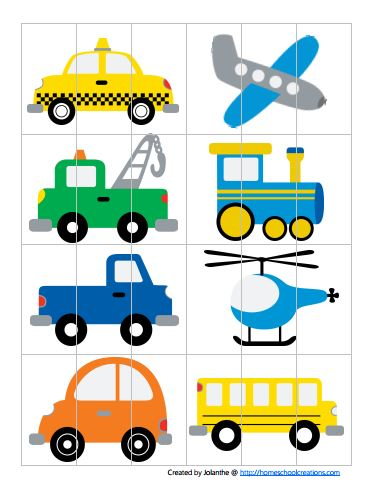 8 Images of Free Transportation Preschool Printable Books