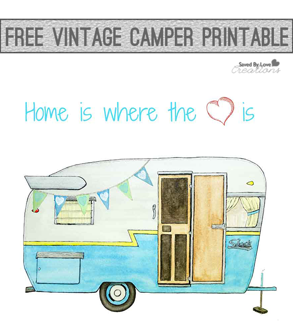 Free Printable Vintage Camper Clip Art