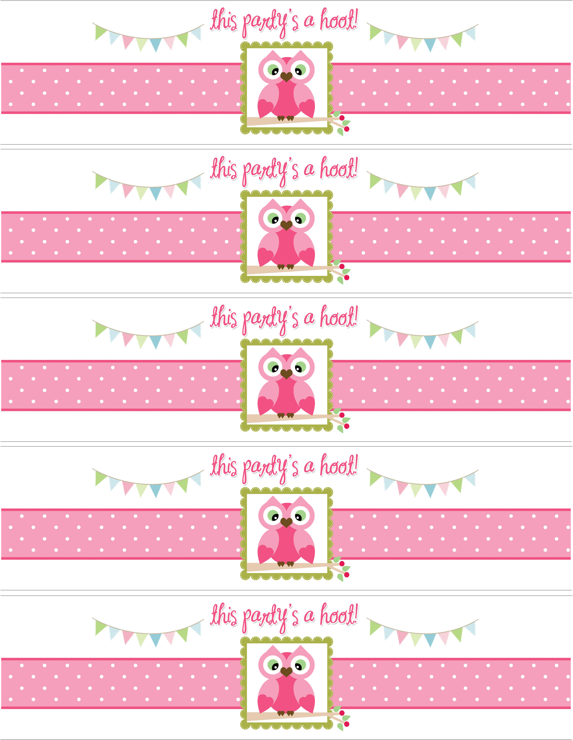 8 Images of Birthday Printable Water Bottle Labels