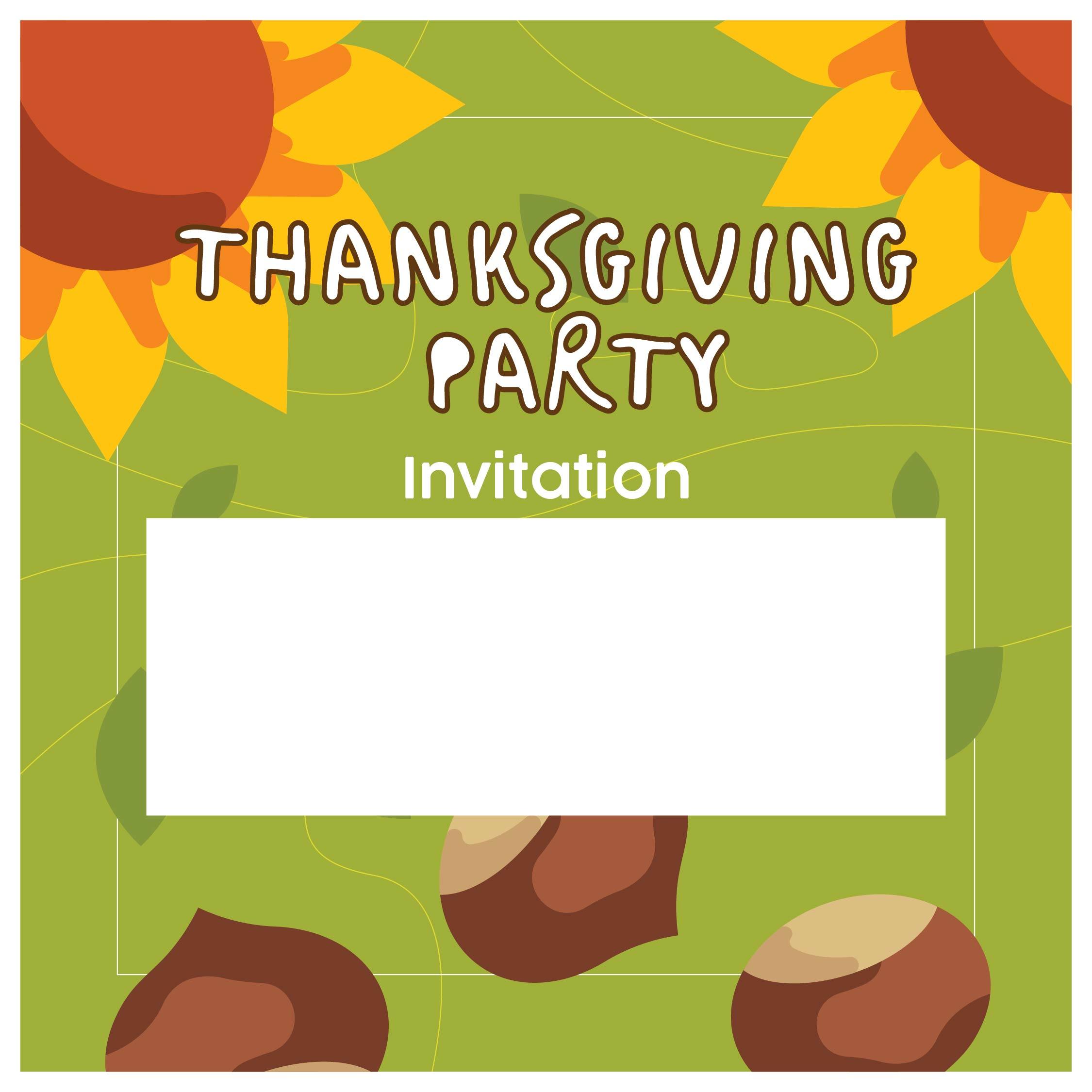 Thanksgiving Invitations Templates