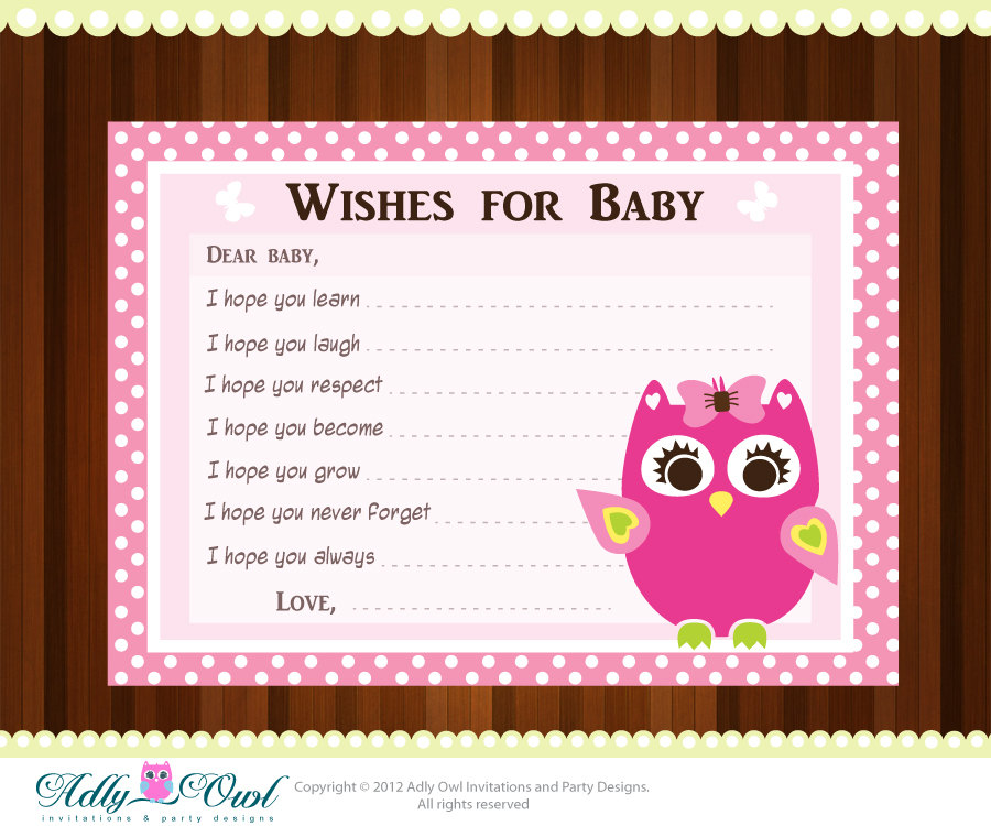 printable baby shower wish cards free printable baby shower wishes