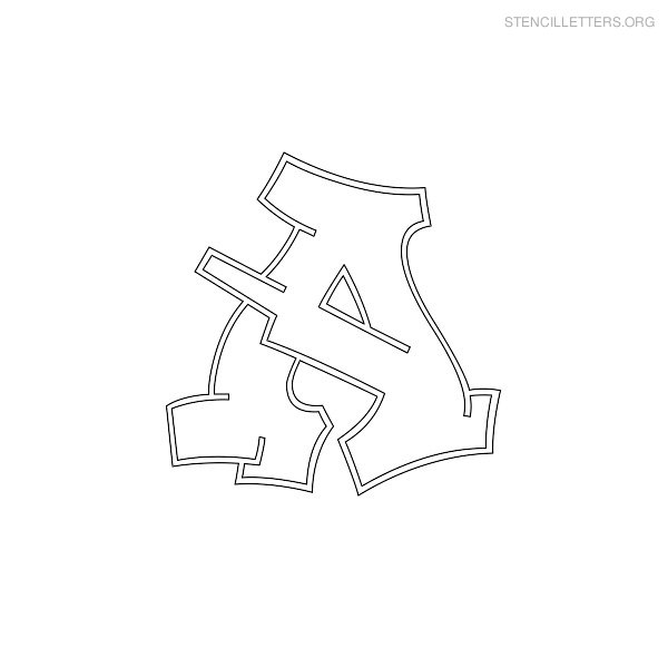 5 Images of Graffiti Letter Stencils Printable