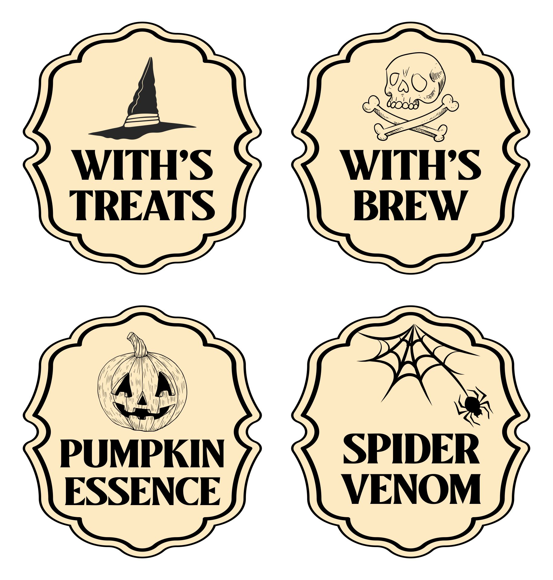 Halloween Poison Labels