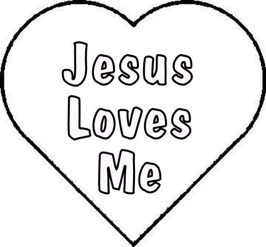 2 Images of Free Printable Jesus Loves Me