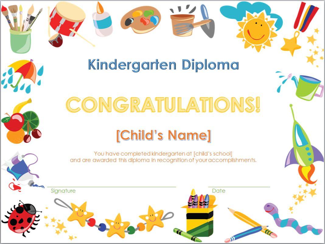 7 Images of Printable Kindergarten Diploma Template