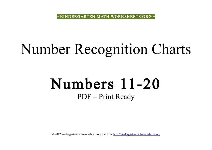 5 Images of Printable Math Number Recognition Worksheets