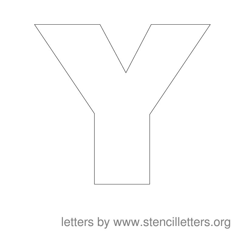 6 Images of Large Printable Letter Stencils Y