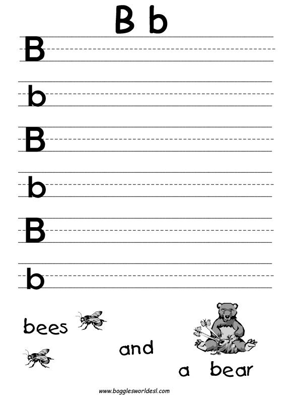 6 Images of Printable Alphabet Letter B Worksheets