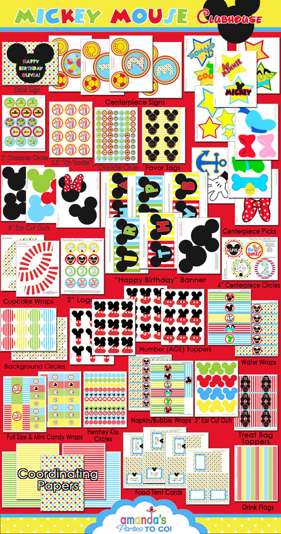 5 Images of Mickey Mouse Clubhouse Birthday Party Printables