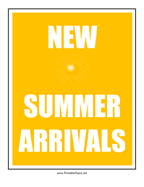 5 Images of Summer Printable Signs