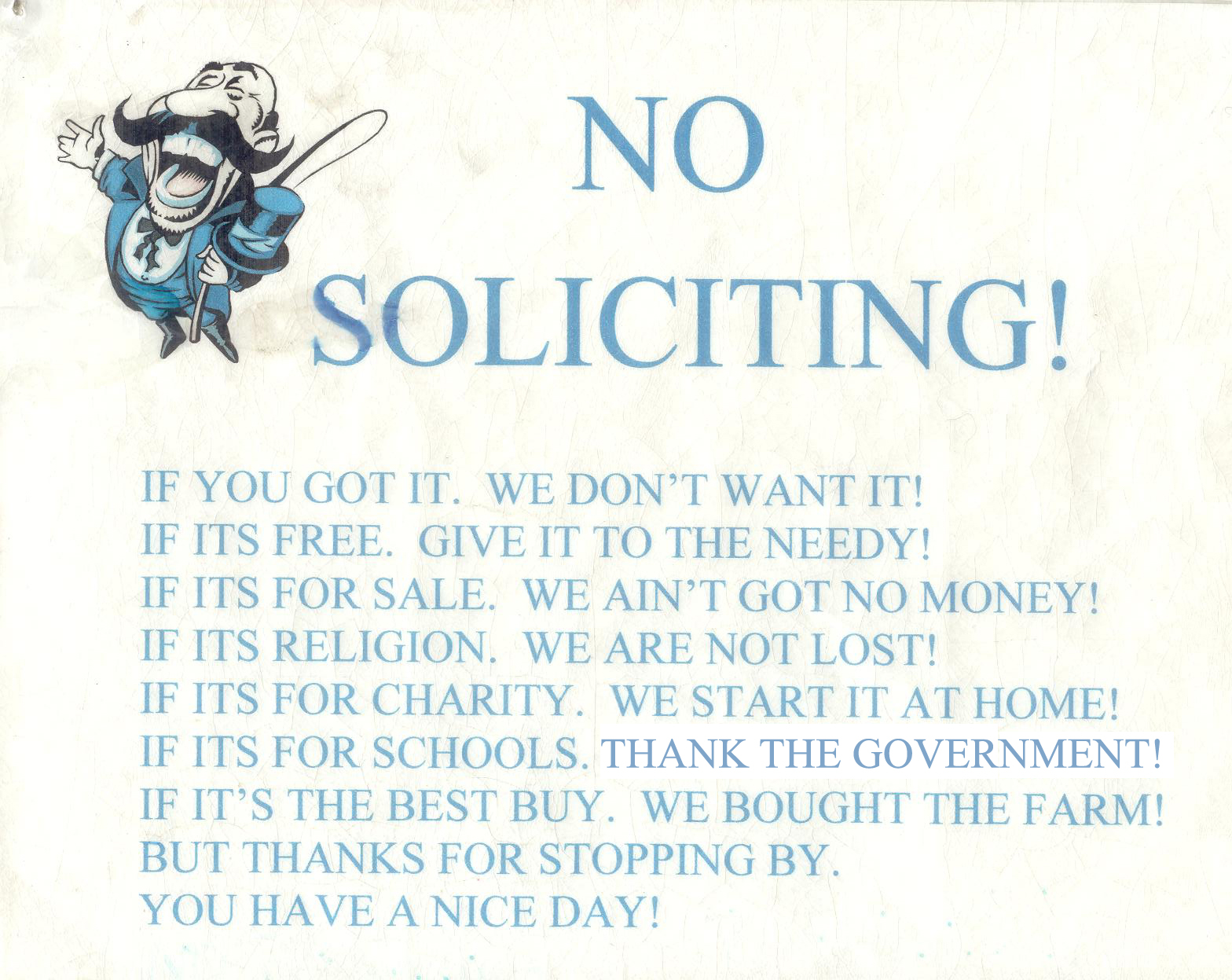 9 best images of no soliciting printable signs no - Funny soliciting signs ...