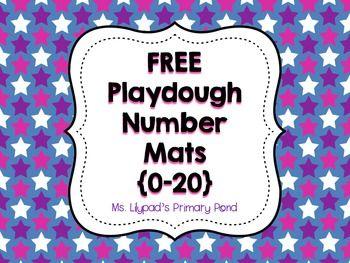 Number Playdough Mats and Free Ten Frames