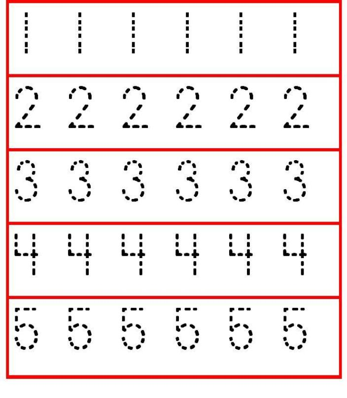 6 Images of Printable Tracing Numbers 3