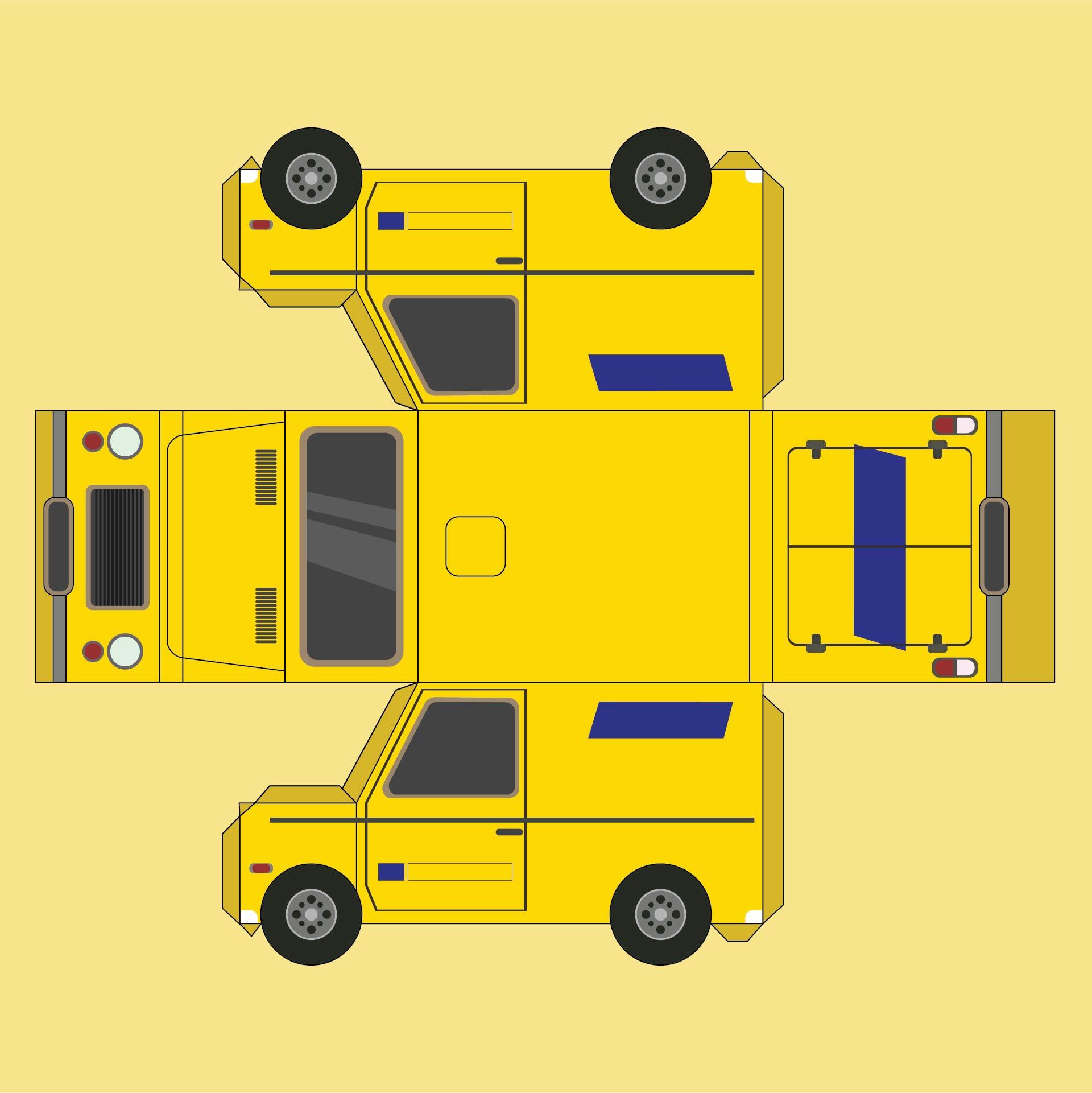 Paper Car Templates Printable