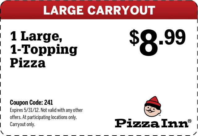 If you've got a craving for Pizza Inn, save yourself a little extra money using one of these 8 coupons in December. To bring you the best discounts possible, this list of offers is always being updated. If you've never experienced a pizza buffet, head to your nearest Pizza Inn as soon as possible.