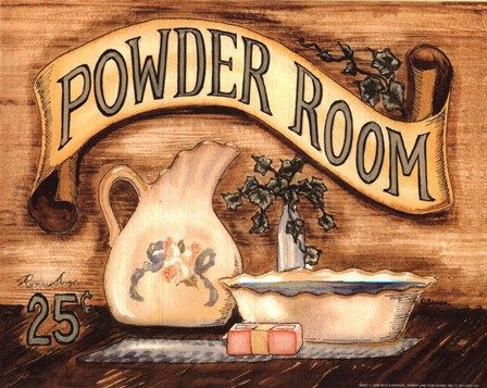 6 Images of Powder Room Vintage Printables