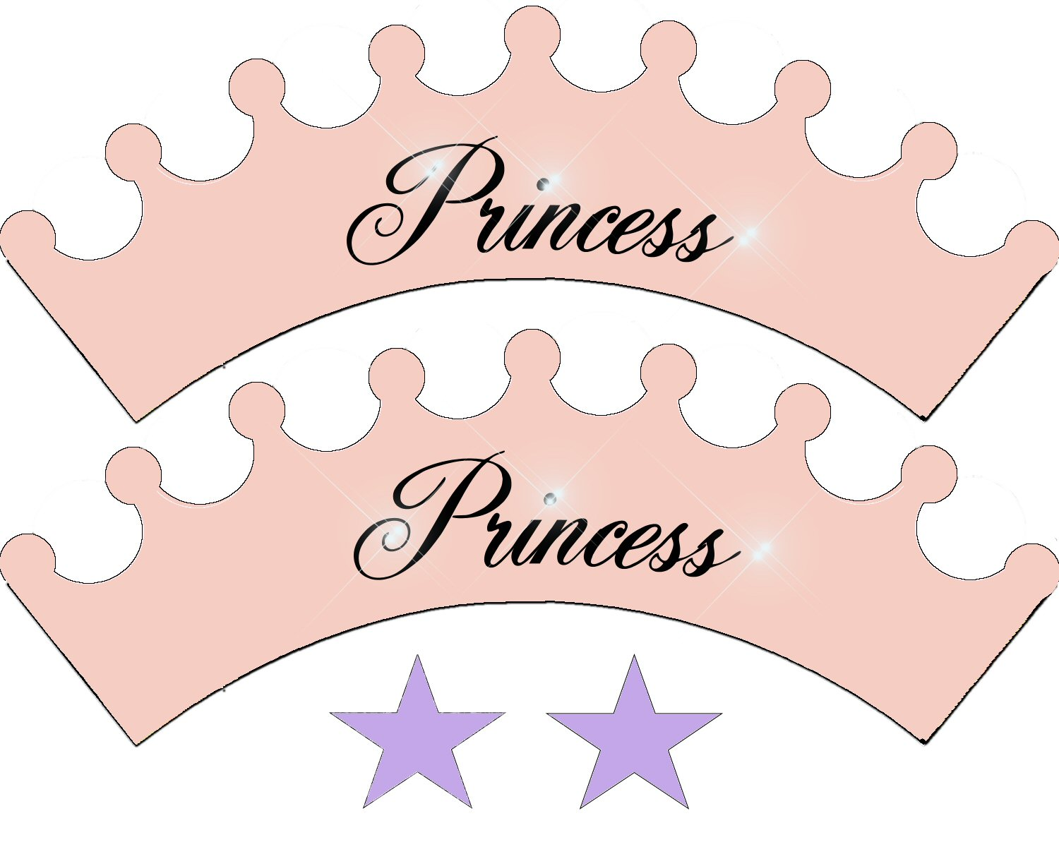 5 Images of Free Printable Princess Cupcake Wrappers