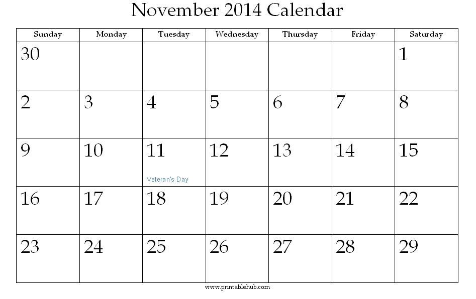 4 Images of Disney Printable Calendars November 2014