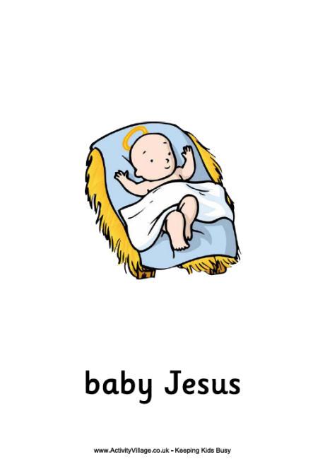 6 Best Images Of Printable Baby Jesus Baby Jesus