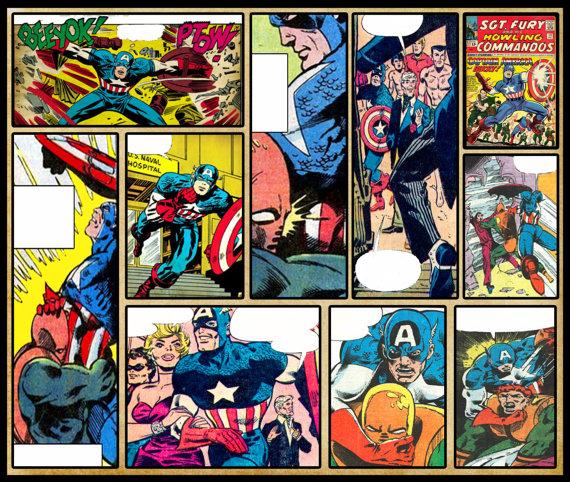 7 Images of Printable Superhero Comic Strips
