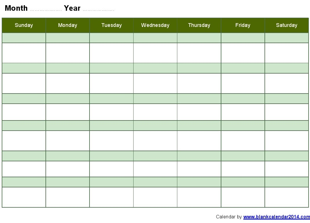8 Images of Printable Monthly Calendar Schedule