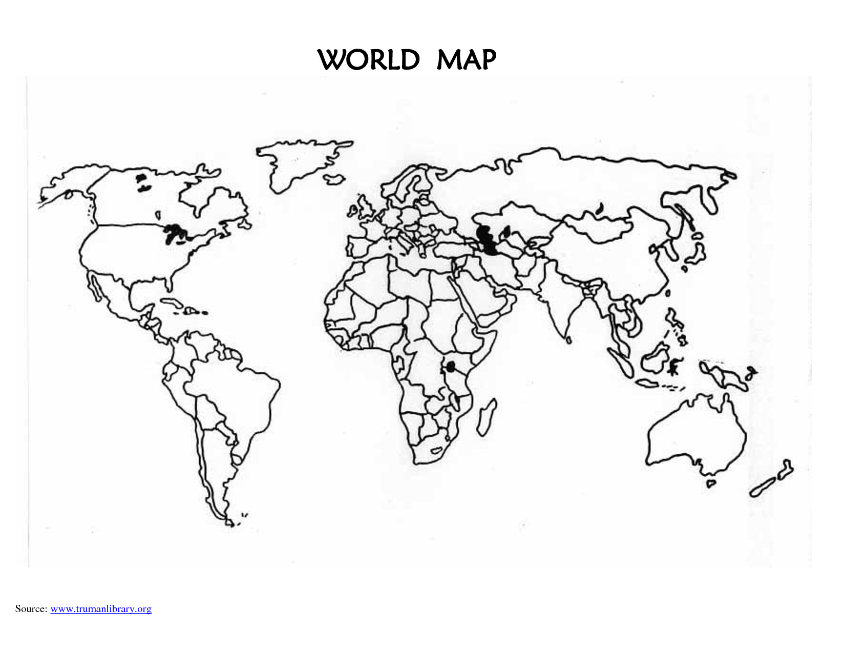 5 Images of Printable Blank World Map Outline
