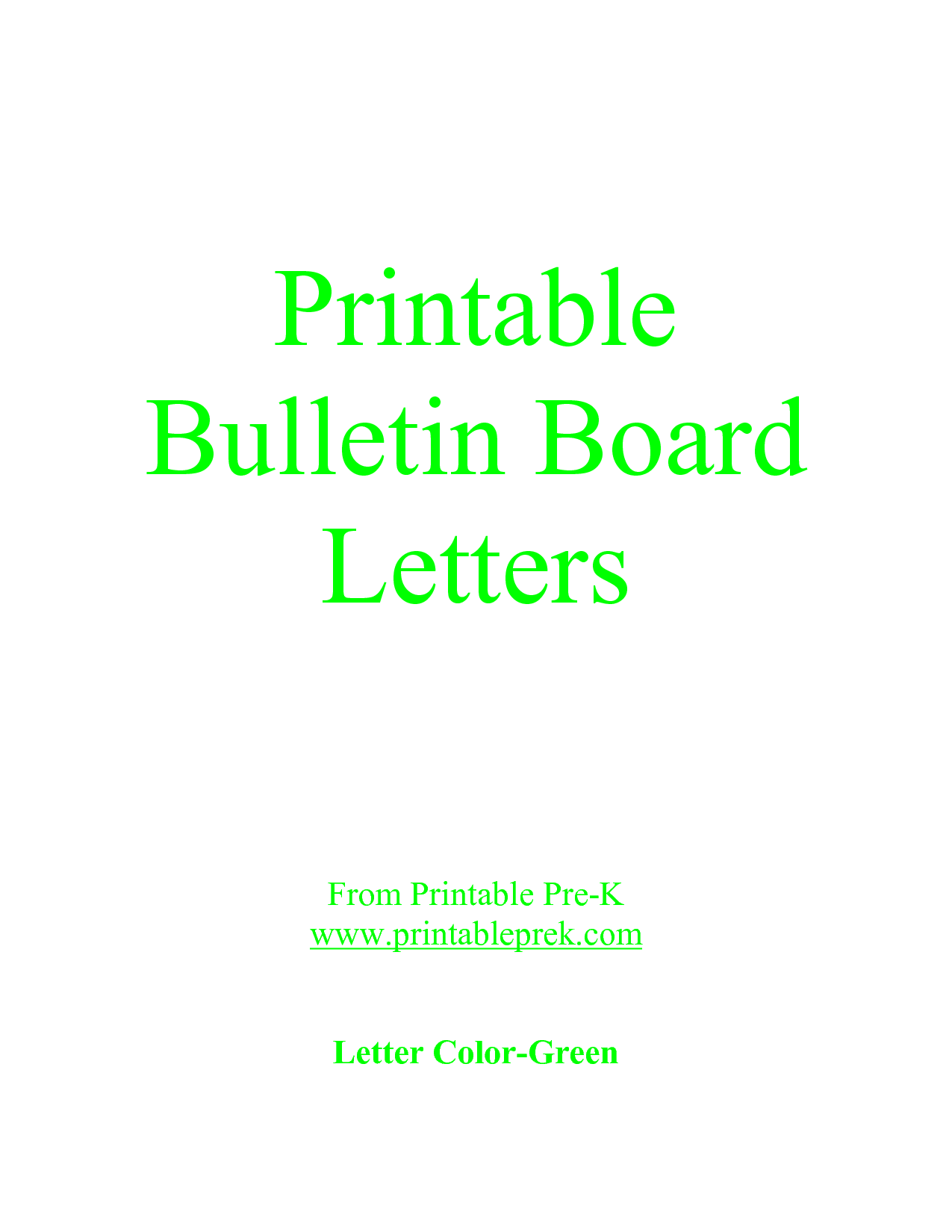 Letter printable images gallery category page 17 for Letters for bulletin boards templates