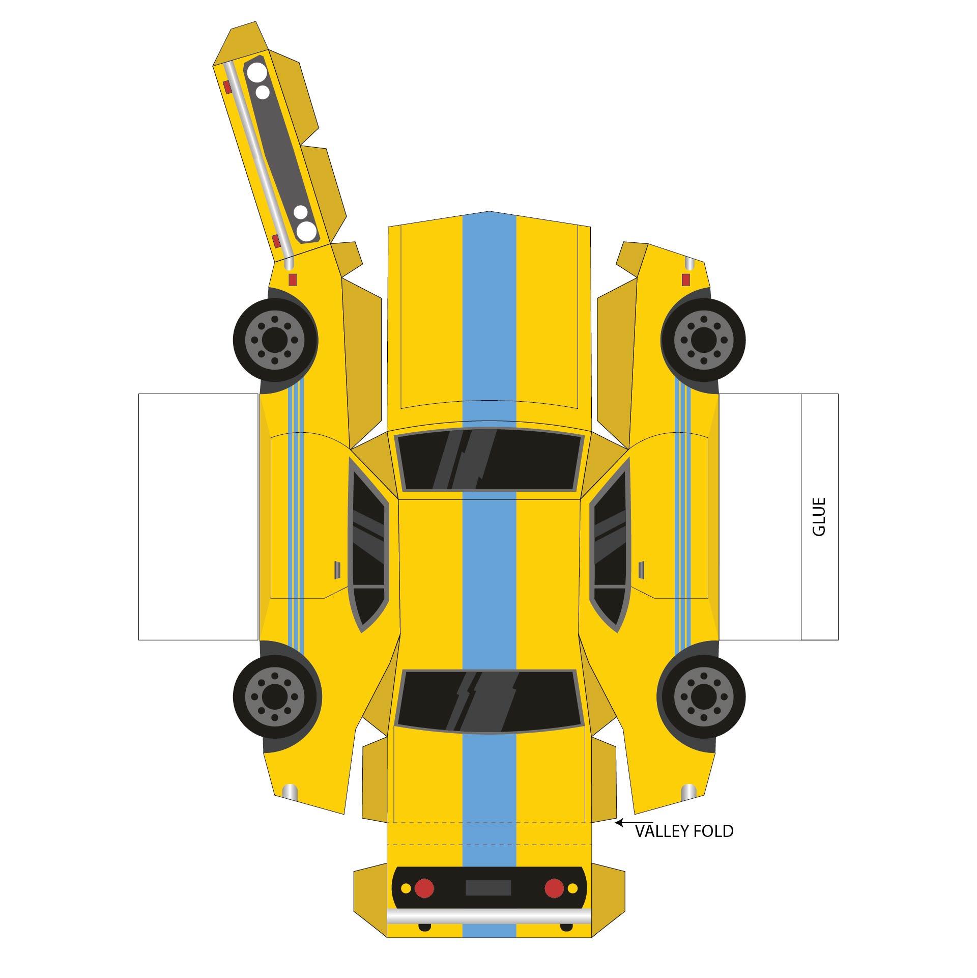 Printable Car Paper Crafts