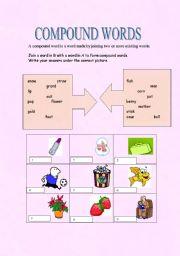 Compound Words Worksheets Kindergarten