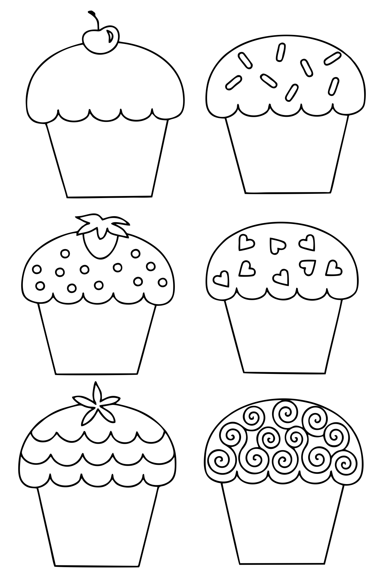 9 Images of Free Printable Template Cupcake