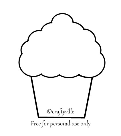 6 Images of Large Cupcake Template Printable Free