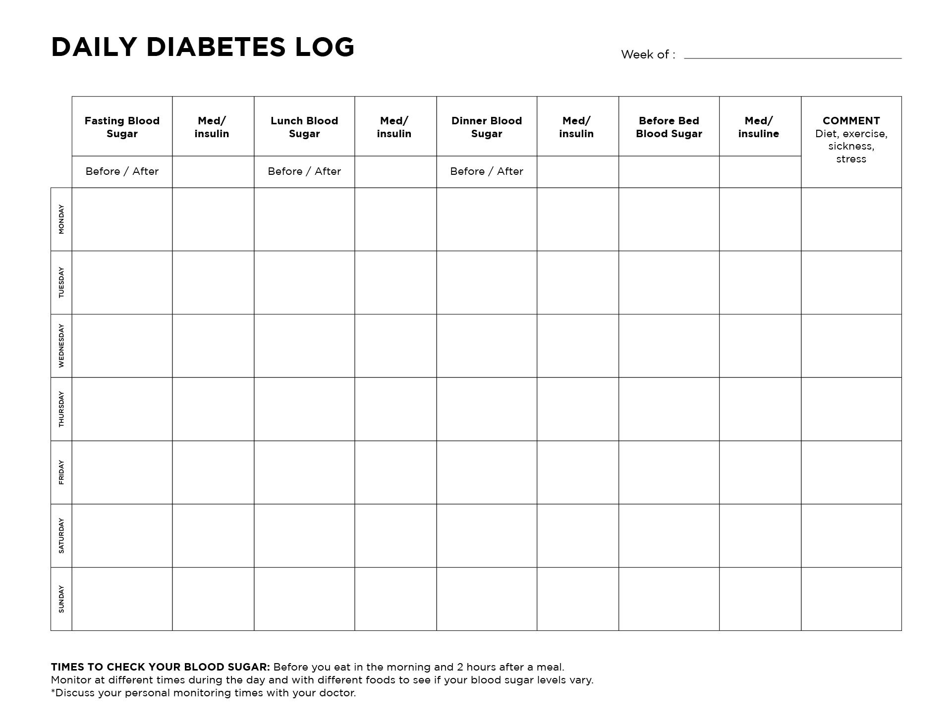 7 best images of 7 day diabetic food log printable printable diabetic food log sheets. Black Bedroom Furniture Sets. Home Design Ideas