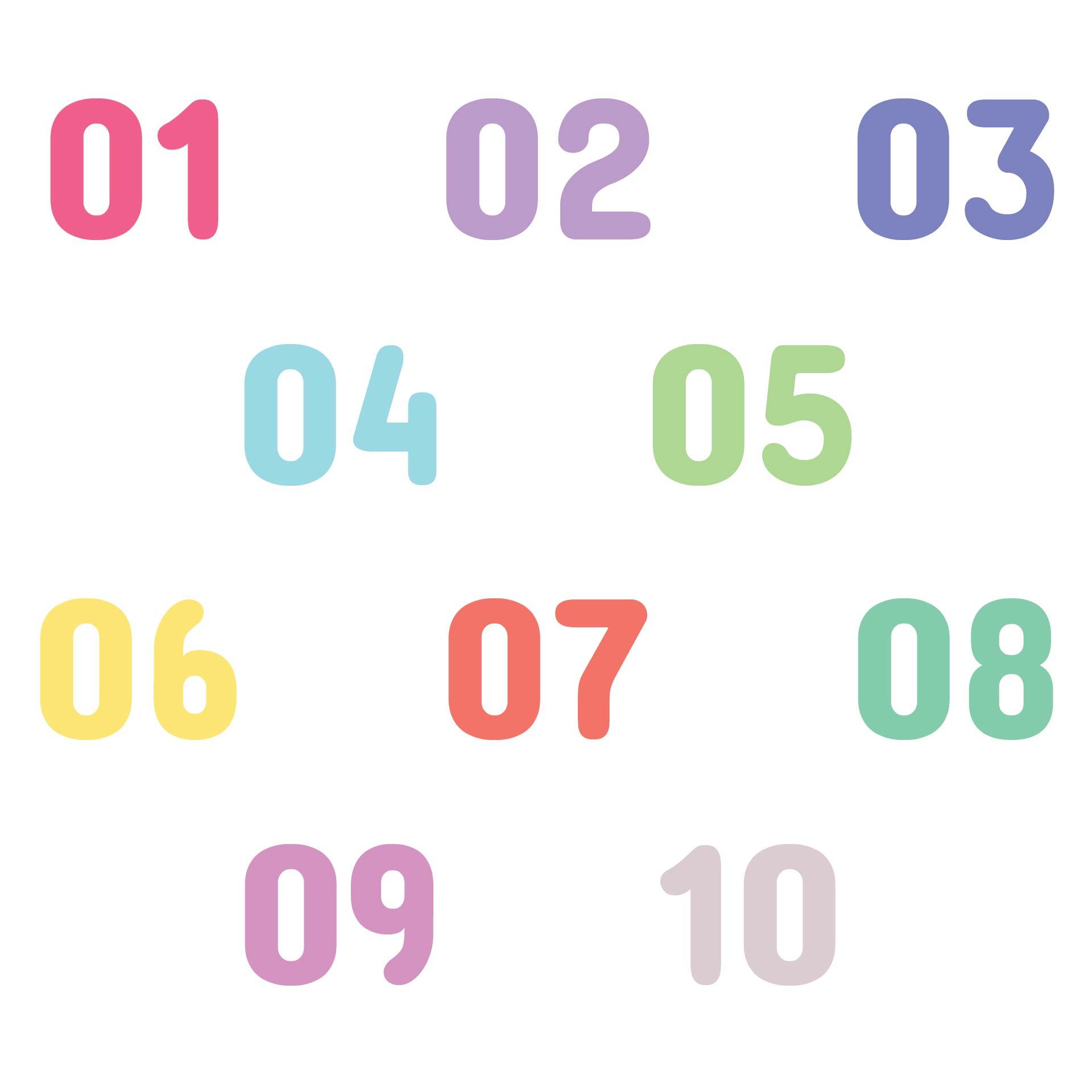 Printable Numbers 1-10