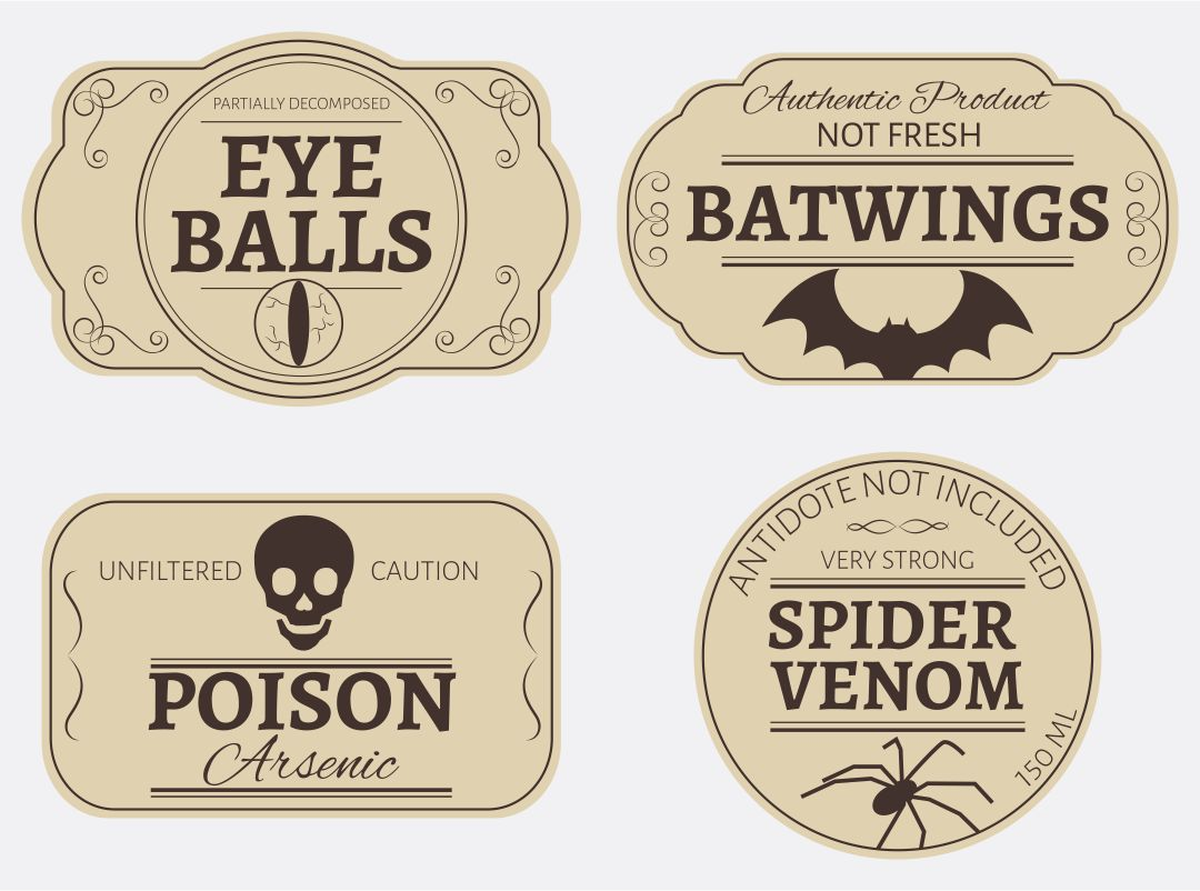 Printable Poison Labels Halloween