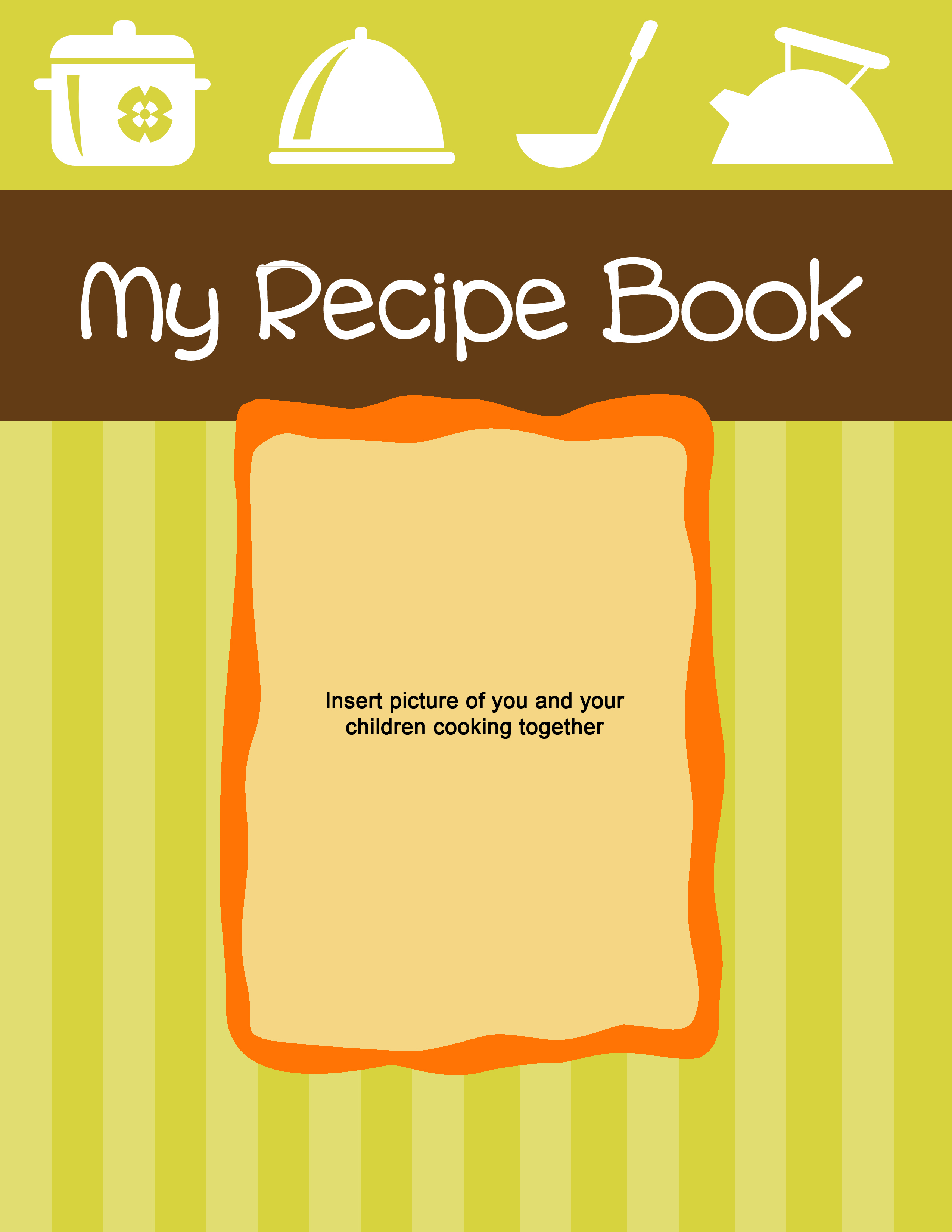 Cookbook Cover Printable ~ Best images of recipe book cover printable