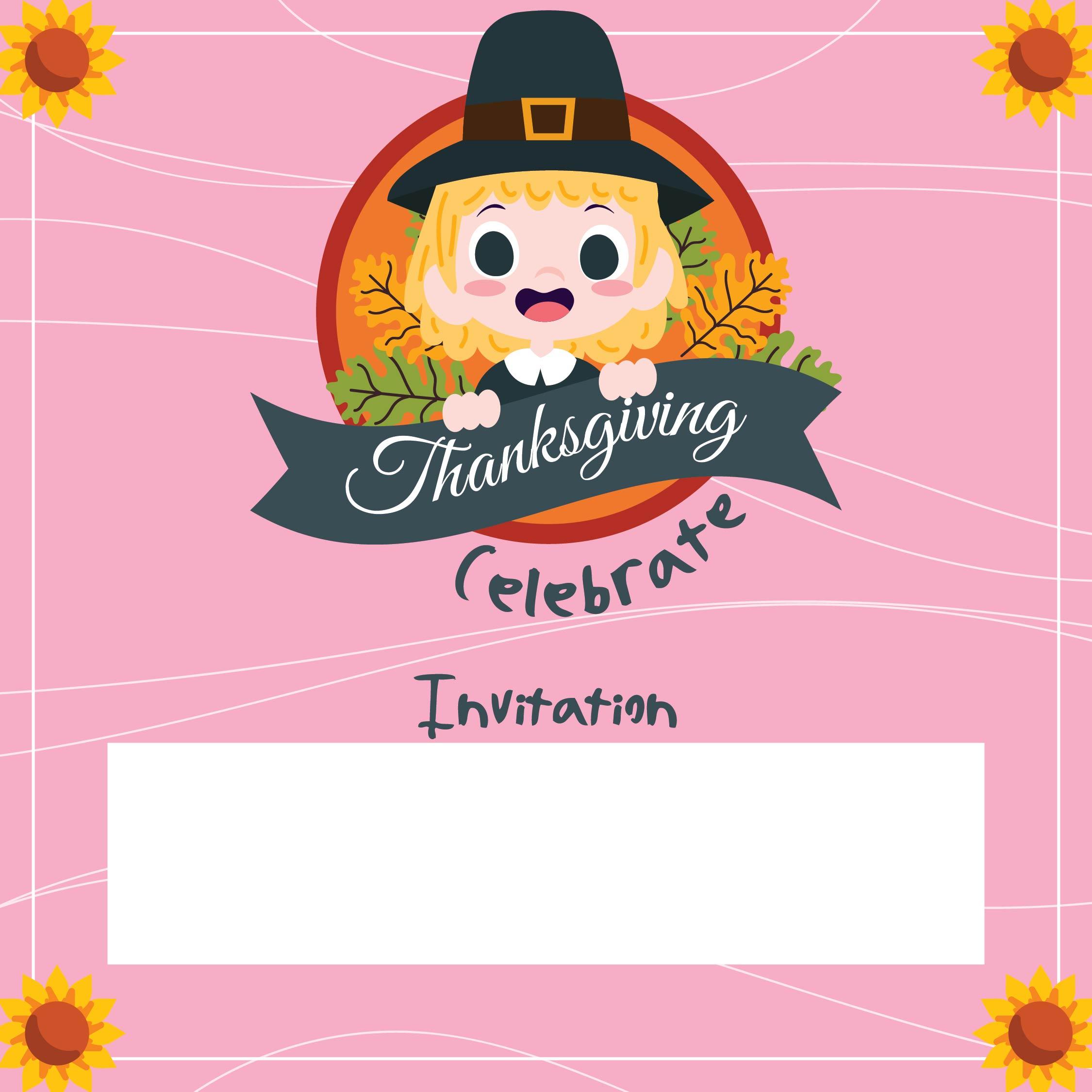 Printable Thanksgiving Invitations Kids