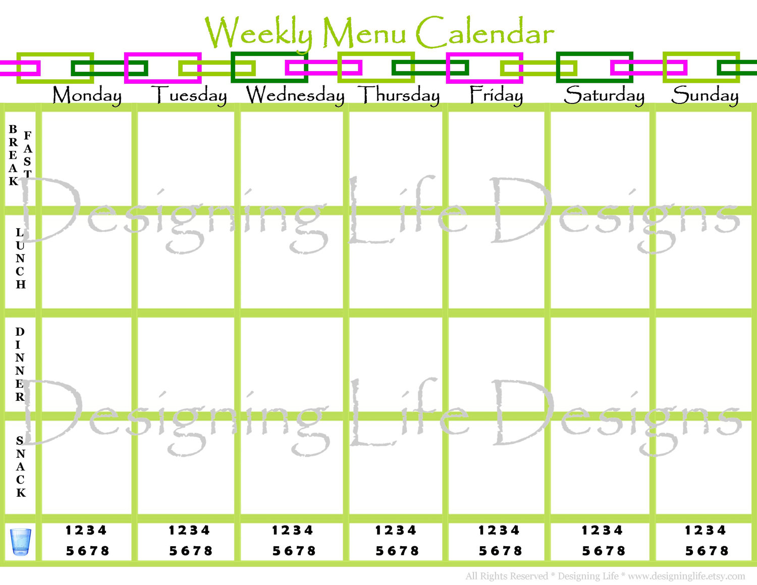 7 best images of weekly menu calendar printable for Monthly dinner calendar template