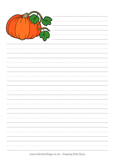 5 Images of Free Printable Pumpkin Writing Paper