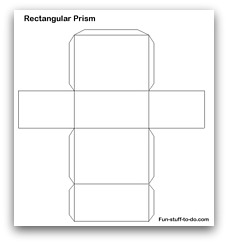 how to make a rectangular prism out of graph paper