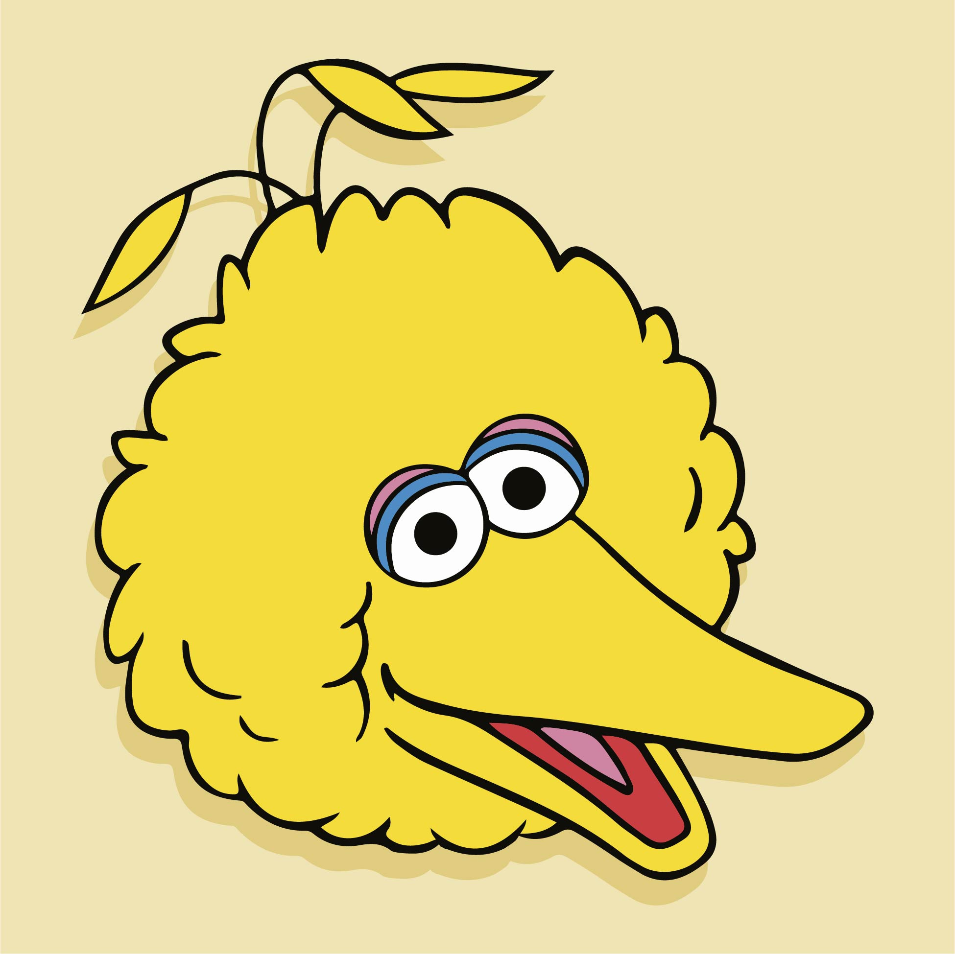 Sesame Street Big Bird Face Template